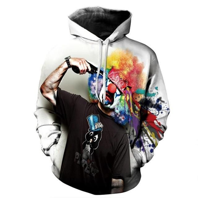 Minblown Clown Hoodie  3D Printed Clothing/Accessories. FREE Shipping Worldwide!