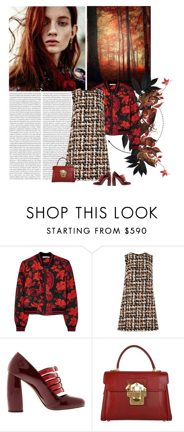"""Gewagte Kombi? :)"" by lagomera ❤ liked on Polyvore featuring Oris, Alice + Olivia, Dolce&Gabbana and Miu Miu"