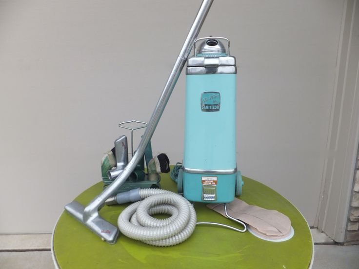 Air Way Sanitizor 88 Vacuum Cleaner WITH Attachments, Canister Vacuum, Vacuum Bags, Vintage, Mid Century Modern, Retro, Industrial Vacuum by RetroVintageous on Etsy https://www.etsy.com/listing/230875565/air-way-sanitizor-88-vacuum-cleaner-with