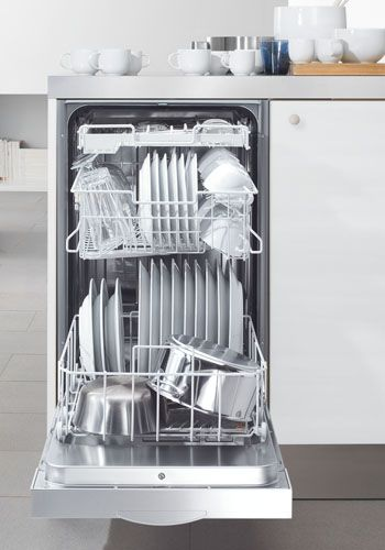 "18"" Dishwashers from Miele #SmalSpaces-- I would like this as a 2nd dishwasher for small gatherings--"