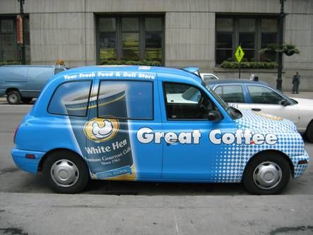WhiteHen - London Taxi - Chicago by London Taxis of North America, via Flickr