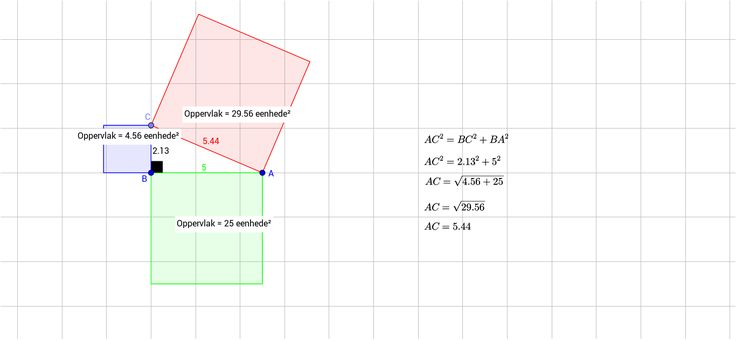 Pythagoras se stelling - GeoGebra