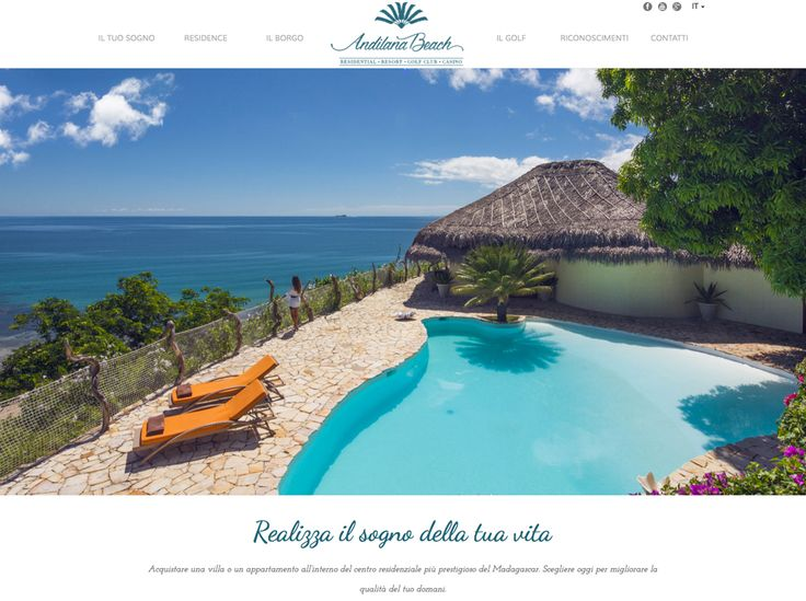 Website for Andilana Beach Residence by Greenbubble
