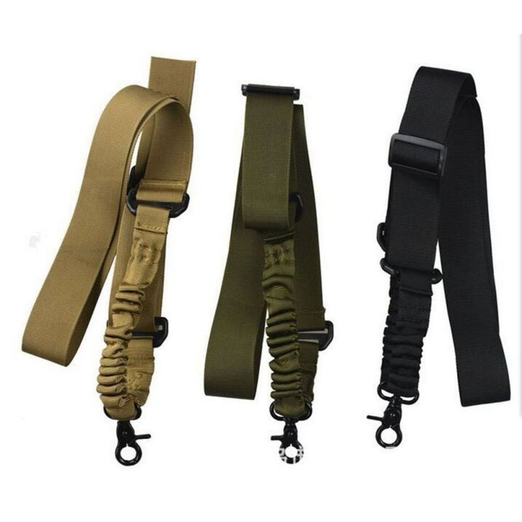 Multi-function Nylon Adjustable Tactical single point Bungee Rifle Gun Airsoft Sling hunting gun Strap Army Green Black