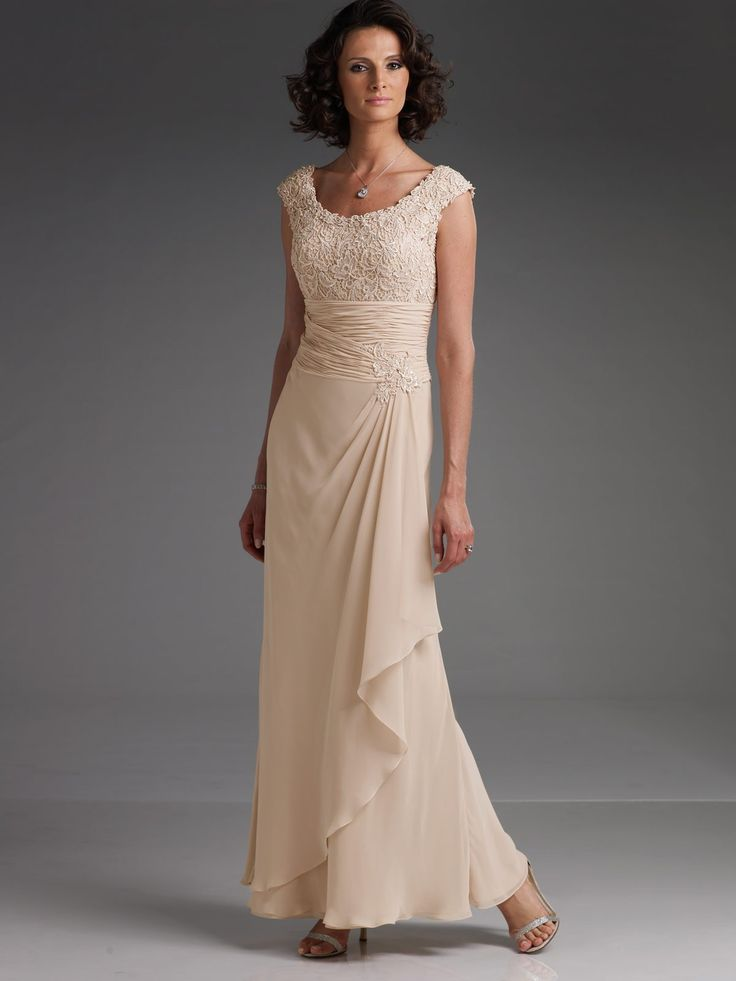Sleeveless A line Off Shoulder Mother of the Bride Dress Beige Champagne Chiffon Lace Evening Dress Floor Length Formal Dress-in Mother of the Bride Dresses from Apparel  Accessories on Aliexpress.com $139.00 - 159.00