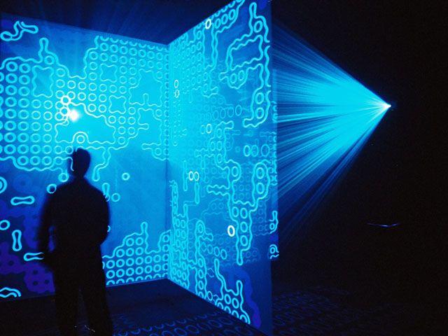 Jon McCormack, Eden (Installation view) ACMI 2004