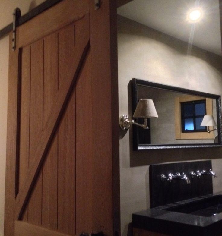 landelijk moderne badkamer met schuifdeur deco artconcepts On deco moderne badkamer