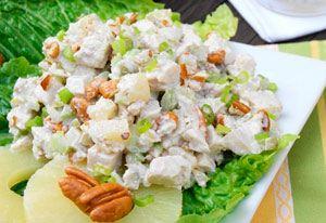 Рецепт №1: Салат с индейкой и ананасом