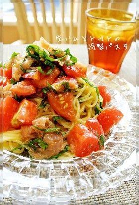 簡単♡トマトと生ハムの冷製パスタ by どんぴんたん [クックパッド] 簡単おいしいみんなのレシピが271万品