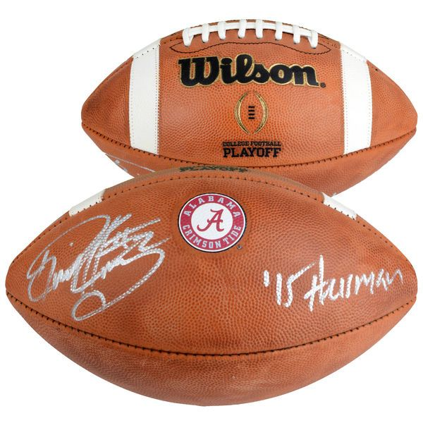 "Derrick Henry Alabama Crimson Tide Fanatics Authentic Autographed Wilson College Football Playoff Football with ""Heisman 15"" Inscription - $399.99"