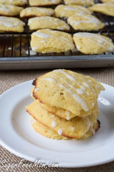 S lemon cookies.  trade out gluten free flour and use almond flour.  add almond milk if mixture appears to be too dry.