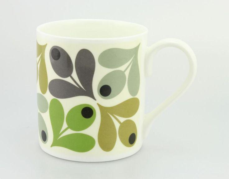 Orla Kiely Mug Multi Acorn Green £8.95 - Mugs - Orla Kiely Mugs ILLUSTRATED LIVING