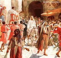 """Jesus Christ, the Messiah came to Jerusalem riding on a donkey. This was prophesied in Zechariah 9:9, """"Behold, your King is coming to you; He is just and having salvation, Lowly and riding on a donkey, a colt, the foal of a donkey"""". Nobody else is recorded in the Bible as entering Jerusalem on that date. He is recorded as """"having salvation"""", indicating that He is the Messiah."""