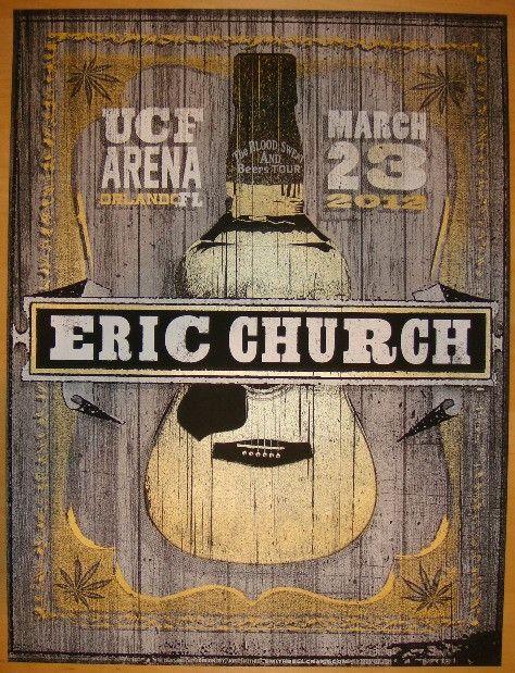 2012 Eric Church - Orlando Concert Poster by Jon Smith