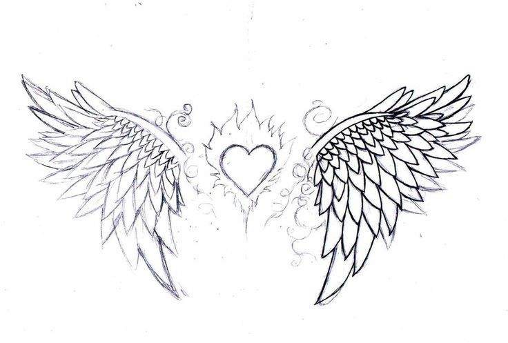 25 best ideas about heart wings tattoo on pinterest infinity heart angel wings drawing and. Black Bedroom Furniture Sets. Home Design Ideas