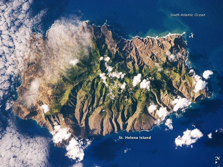 Saint Helena in the South Atlantic Ocean...from space.