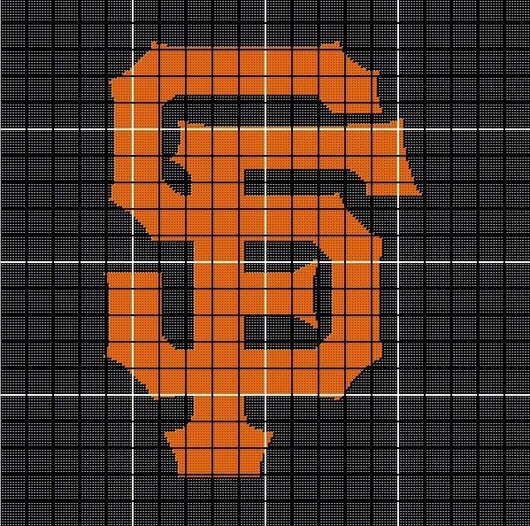 San Francisco Giants Crochet Afghan Pattern Orange