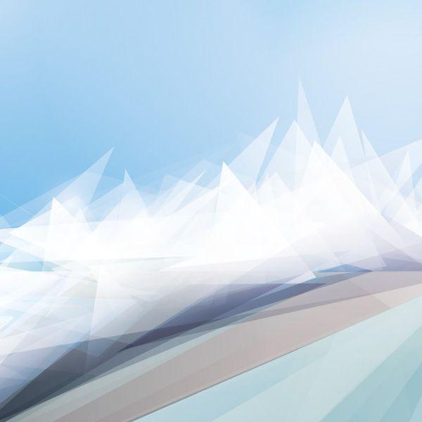White Winter Landscape Vector Graphic