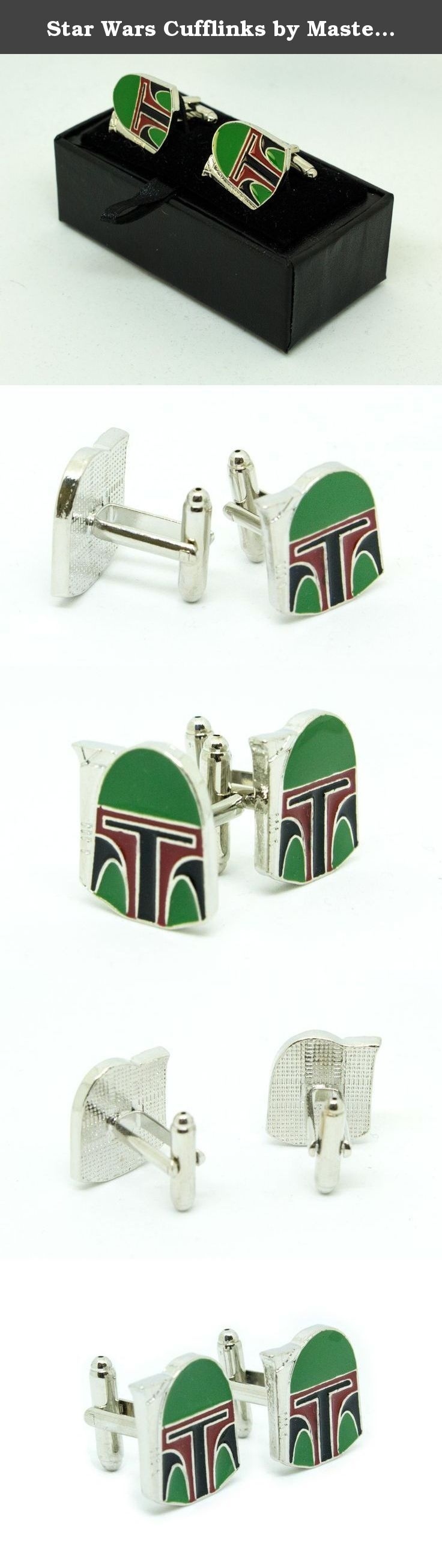 """Star Wars Cufflinks by MasterLinks - The Galactic Empire Collection (Boba Fett). Boba Fett Star Wars Cufflinks The Death of Boba Fett """"Boba Fett? Boba Fett? Where?"""" -Han Solo, just before knocking Fett into the sarlacc. The legendary Mandalorian bounty Hunter met an untimely demise in """"Return of the Jedi"""" when he was knocked inadvertently over the side of a desert skiff into the sarlacc by a blind Han Solo while fighting Luke Skywalker. He was born on Kamino, an unaltered clone of Jango…"""