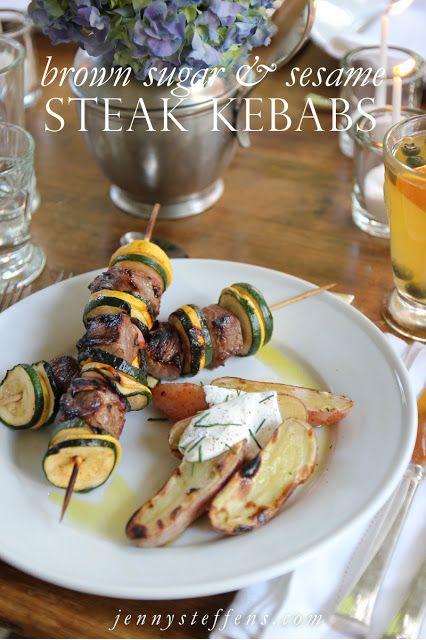 Jenny Steffens Hobick: Brown Sugar & Sesame Steak Kebab Marinade