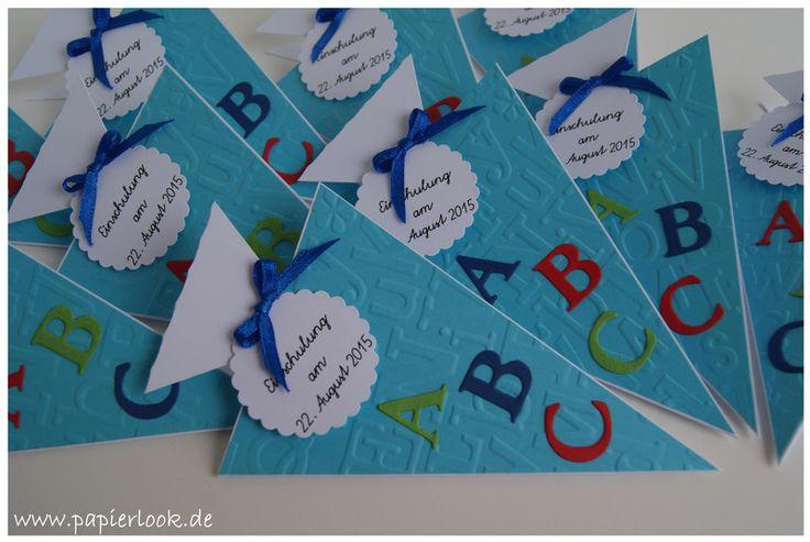 """~+Einladung+zum+Schulanfang+""""A+B+C""""+(Farbwahl)+~+von+papierlook+auf+DaWanda.com"""