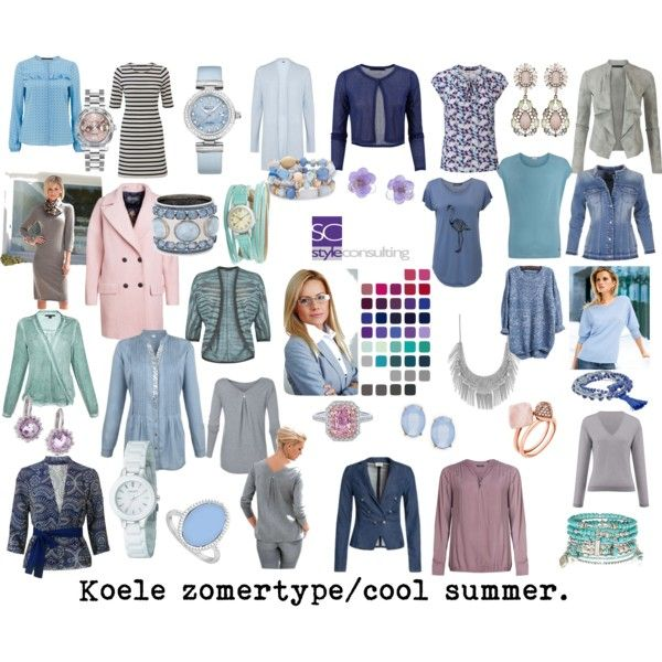 Koele zomertype/ Cool summer color type. Seasonal color analysis. by roorda on Polyvore featuring Mode, Lucky Brand, DKNY, Chico's, OMEGA, TOKYObay, Accessorize, Cara, Michael Kors and LoveBrightJewelry