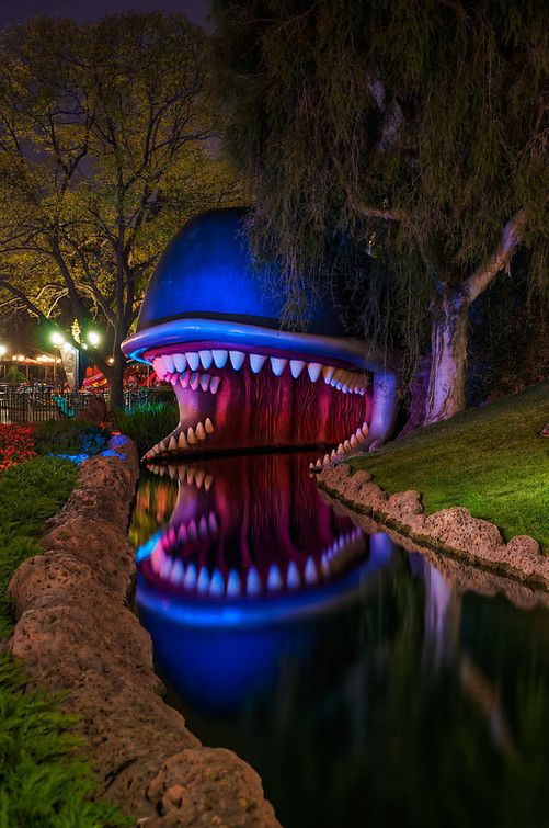 Great shot of Monstro! Entrance to Storybook Land Canal Boats in Disneyland. I hope they reopen this soon!
