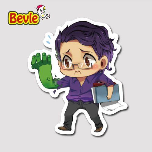 Bevle 9636 Marvel Avenger Super Hero Халк Водонепроницаемый Наклейки Прилив Мультфильм 3 М Стикер Холодильник Скейтборд Автомобилей Граффити