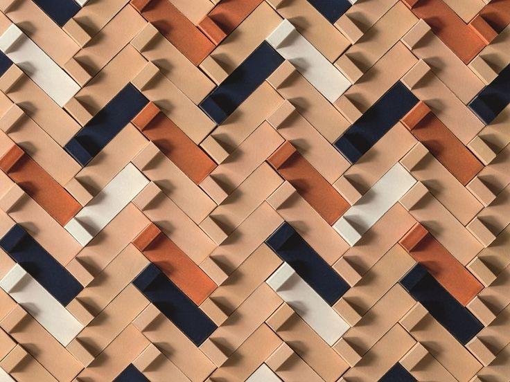 Revestimiento de pared 3D de terracota TIERRAS ARTISANAL LITTLE L Colección TIERRAS by MUTINA | diseño Patricia Urquiola