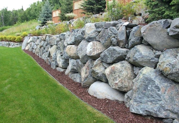 dry stacked rip rap retaining wall Google Search Rock