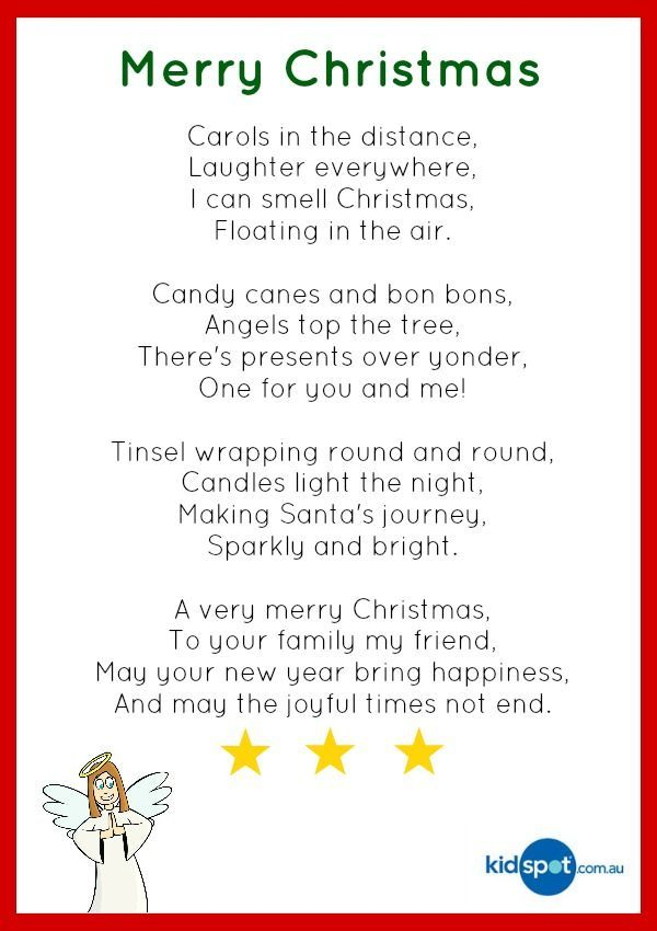 Image result for christmas poems for kids | Classroom Ideas | Pinterest