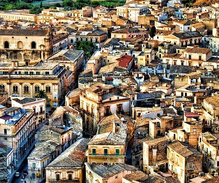 Scicli - the ancient city in Sicily.