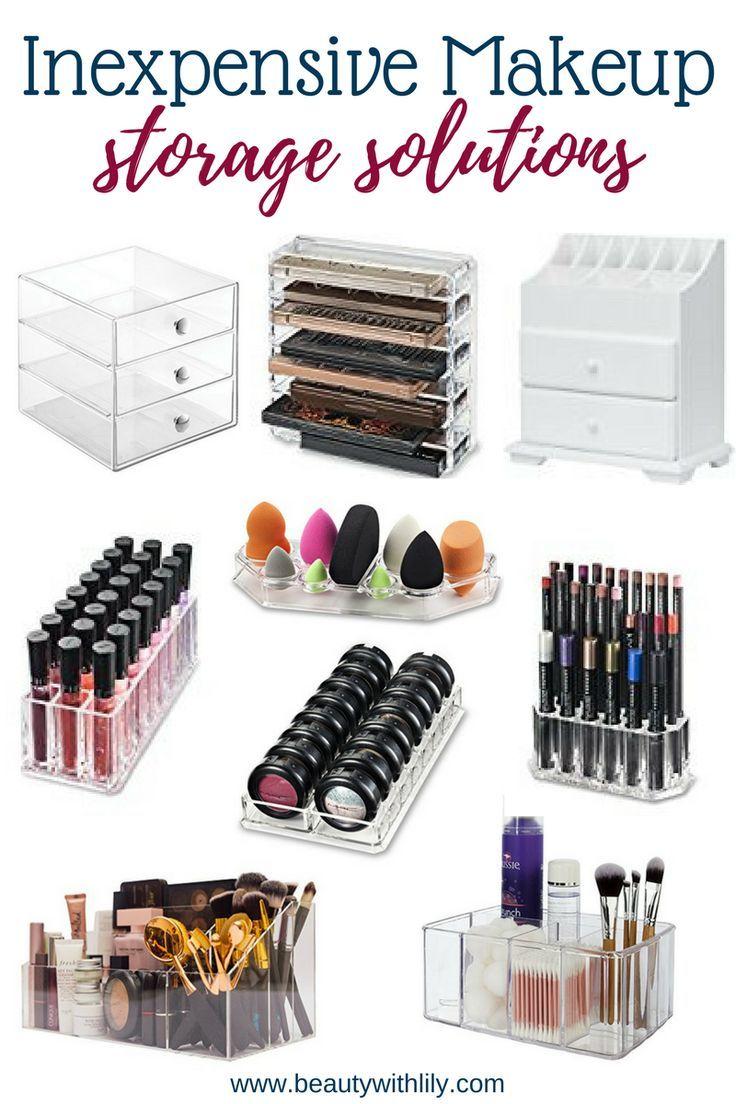 Inexpensive Makeup Storage Solutions Makeup storage