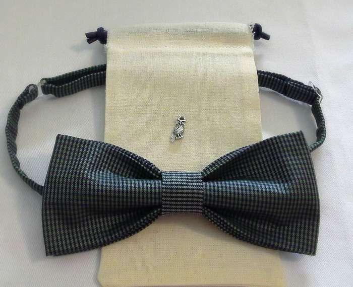 bow-tie  neck-tie  butterfly  (Галстуки-бабочки) Классическая. Серая клетка.