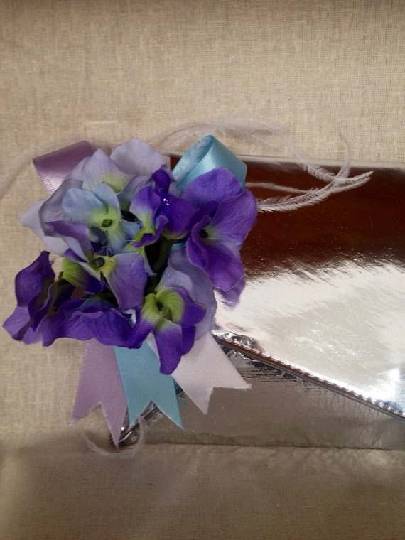 Violet and lilac handbag clutch clip by DesignedbyDivas on Etsy, $29.95