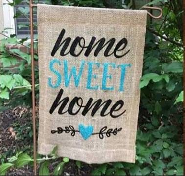 Home Sweet Home Burlap Flag| Garden Flag| Yard Art| Garden Decorations| Gifts for the home| Flags| Outside Decor