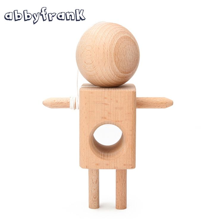Abbyfrank Kendama Sword Ball Humanoid Non-toxic No Paint Professional Skillful Juggling Ball Kendama Pure Wooden Traditional Toy #Affiliate