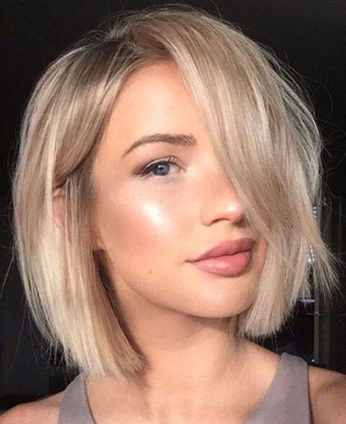 Beige Blonde Bob Kurze Frisuren Für Dickes Haar Liebe Pinterest