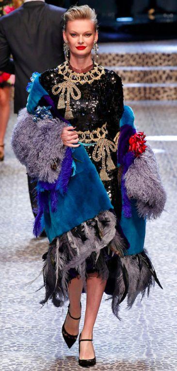 Dolce&Gabbana Outono inverno 2017/18 MFW - casacos de pele