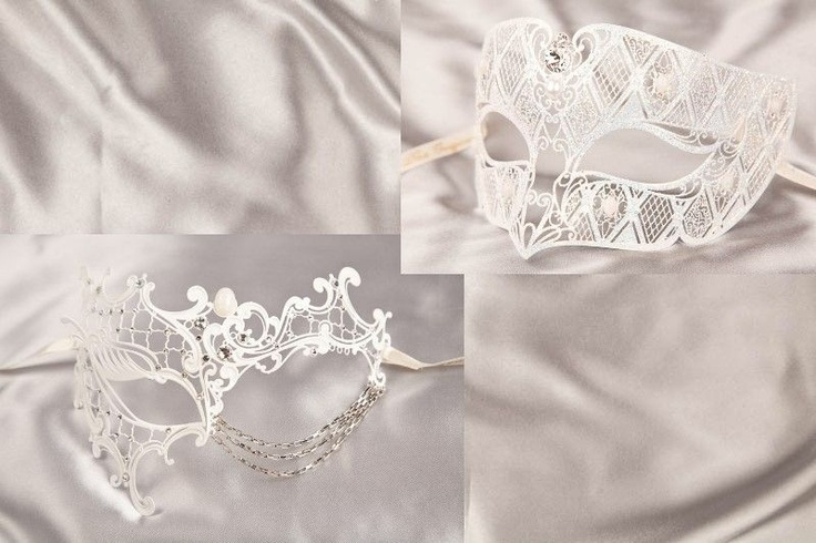 Masquerade Masks for Couples - Filigree Metal Venetian Masks