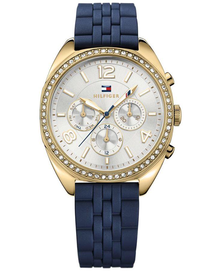 Tommy Hilfiger Women's Sport Luxury Navy Rubber Strap Watch 38mm 1781570
