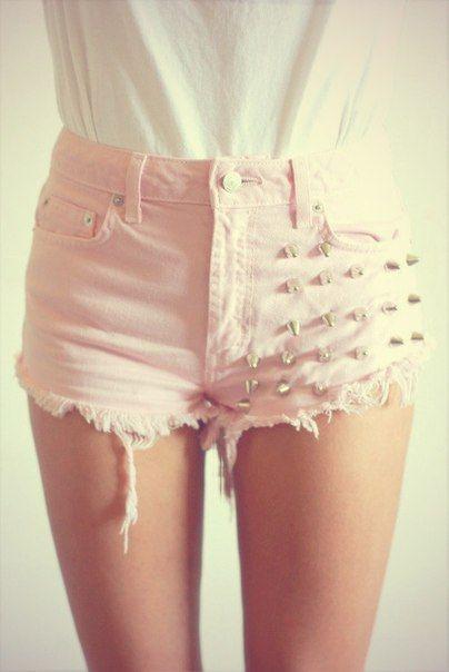 DIY studded shorts inspiration
