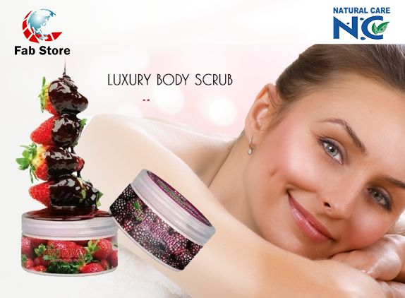 LUXURY BODY SCRUB offers a soft, smooth Body, deep cleansing & Refreshing skin. The Natural composition contains shea butter and coca to add velvet looking for your body. It helps the prevention of skin slackening, eliminates impurities and dead skin cells.   Now available at Fab Store outlet at Spinneys The Pearl Qatar-Madinat Centrale