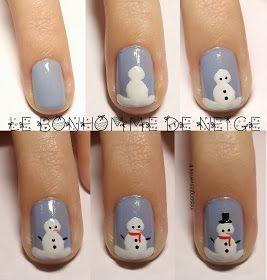 ongles pour Noël                                                                                                                                                                                 Plus