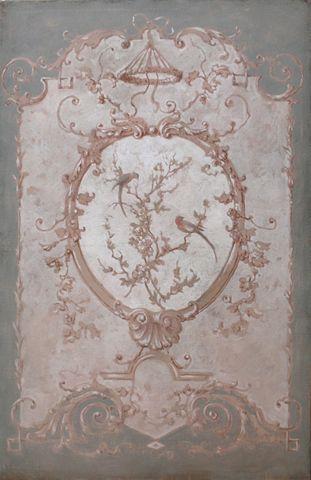 Pascal Amblard's decorative panels - trompe l'oeil never goes out of fashion!
