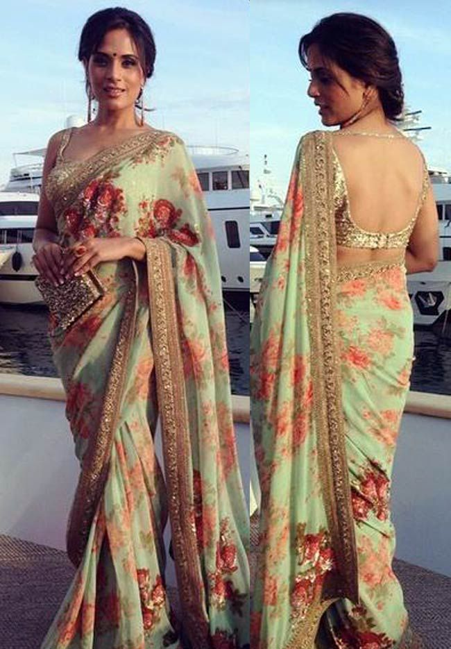 Richa Chadda at Cannes 2015. Love the soft and elegant design.