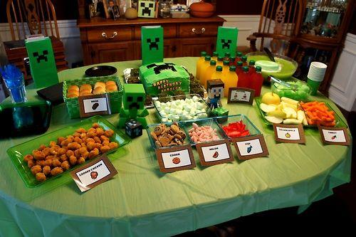 minecraft party ideas | ... birthday ideas minecraft birthday party themed party food party food