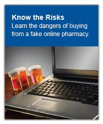 Learn the dangers of buying from a fake online pharmacy.