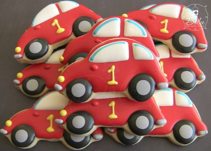 Car cookies~                                                 by Dolce, red