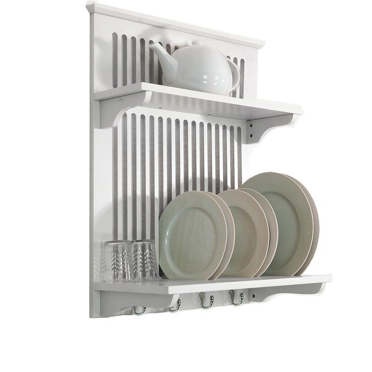 Wall mounted dish dryer display rack for Kitchen display wall